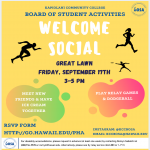 Welcome Social Flyer